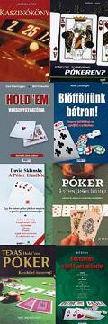 Texas holdem póker, blackjack, casino, szerencsejátékos könyvek
